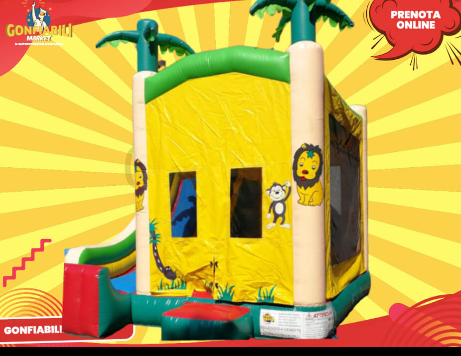 gioco gonfiabile per bambini combinato savana-2